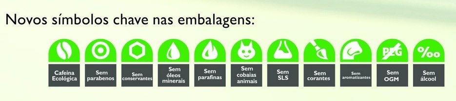 Novos símbolos embalagens orgânicos