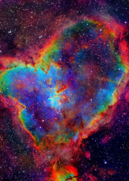 Nebulosa Heart Arco-Íris