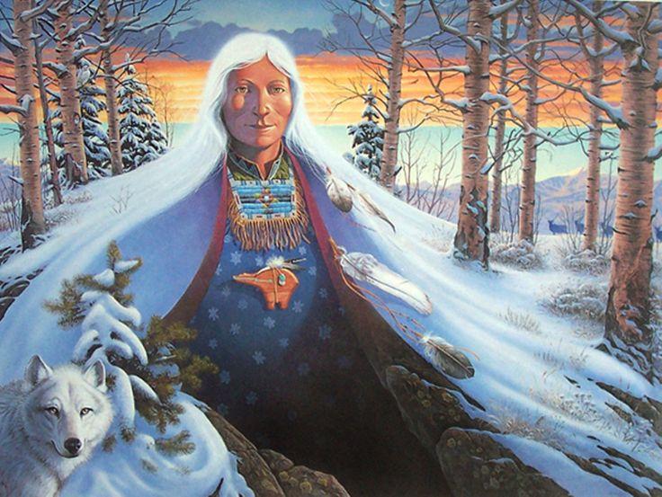 Winter_Native Woman