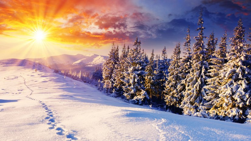 Inverno_neve_pôr-do-sol